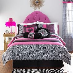 For Anna's Room - think this is it - Seventeen Zebra Darling Bedding & Accessories Teen Girl Bedding, Teen Bedroom, Bedroom Stuff, Bed For Girls Room, Cool Comforters, Kid Beds, Bed Spreads, Room Inspiration, Bedding Sets