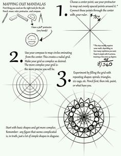 Mapping Out Mandalas Tutorial by ObscureFamous on DeviantArt - Basteln, Selbermachen - Mapping Out Mandalas Tutorial by mattridgway.devia… idea… mandala bowl/plate using hump or slu - Mandalas Painting, Mandalas Drawing, Dot Painting, Zentangle Patterns, Zentangles, Mandala Pattern, Mandala Design, Art Tutorials, Drawing Tutorials