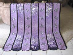 Purple gradient leaf quilt