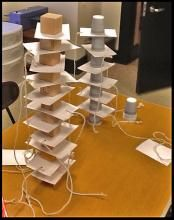 inertia towers made of blocks