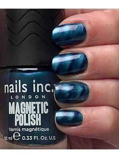 Nails Inc Whitehall magnetic Polish - fab! Nails Inc London over pins Nails Inc, Us Nails, Magnetic Nail Polish, Essie, Opi, Nails Inspiration, Magnets, Nail Designs, Nail Art