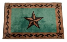 Rustic Star Turquoise Rug for your Texas & Western Decor