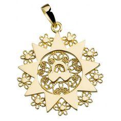 Ciondolo presentosa P5C in oro Giallo 750%° Gr.4.7 cm 2.5