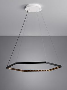 LED direct light indirect light steel pendant lamp HEXA 1 by Le Deun Luminaires