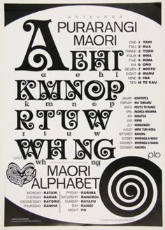 Purarangi: Maori Alphabet: Designer by Joseph Churchwood