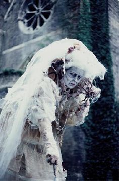 Halloween themed Entertainment - Miss Havisham stilt to scare the pants off your guests