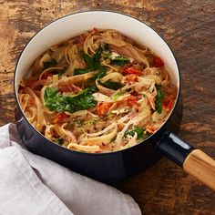 One Pot Linguine with Winter Greens   Recipes   Weight Watchers