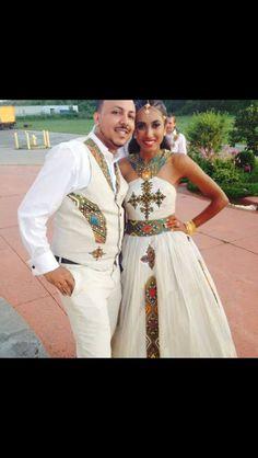 HAbesha Bride in Melse Attire