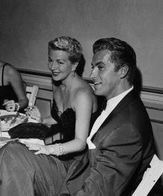 Lana Turner and Lorenzo Lamas