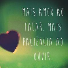 Mais amor!