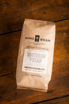 Get your morning off to a good, Southern start with Charleston-based coffee roasters, King Bean in French Roast, Sullivan's Blend (most popular) and Southern Pecan on bourbonandboots.com