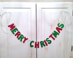 Merry Christmas Banner Photo Prop / Decoration by hawthorneave