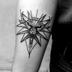 Discover cool role playing game ink inspiration with the top 60 best Witcher tattoo designs for men. Explore video game themed body art and ink ideas. Designs Henna, Tattoo Designs For Women, Tattoos For Women Small, Tattoos For Guys, Hand Tattoos, Sleeve Tattoos, Chest Tattoo, Arm Tattoo, Samoan Tattoo