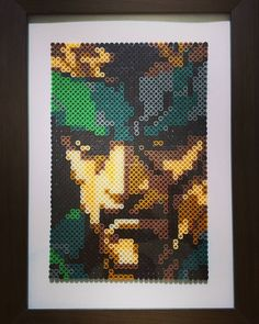 Solid Snake - Metal Gear perler beads by ryuzaki_alzaher