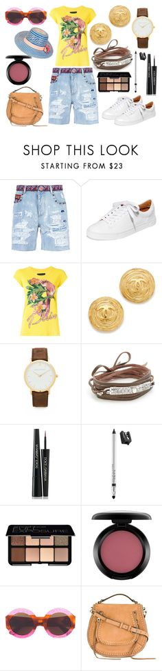 """Look for a old jeans"" by hillarymaguire ❤ liked on Polyvore featuring Dolce&Gabbana, Frye, Philipp Plein, Chan Luu, Trish McEvoy, Smashbox, MAC Cosmetics, Gucci, Rebecca Minkoff and YOSUZI"