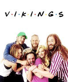 #Vikings cast, Travis Fimmel, Katheryn Winnick, Clive Standen, Alewander Ludwig, George Blagden Gustaf Skarsgård