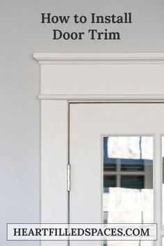 How to update builder grade door casings to Farmhouse/Craftsman style trim. Foll… How to update builder grade door casings to Farmhouse/Craftsman style trim. Craftsman Door, Craftsman Style, Door Frame Molding, Farmhouse Trim, Farmhouse Interior, Door Casing, Window Casing, Do It Yourself Inspiration, Moldings And Trim