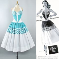 Vintage 50s COLE Of CALIFORNIA Dress / 1950s Cotton Pique