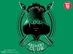 Archery Club T-Shirt - http://teecraze.com/daily-deal-5/ -  Designed by MitchLudwig
