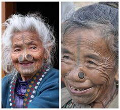 woman of the ancient Apatani tribe in India