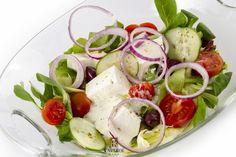 Delicious greek salad Greek Salad, Caprese Salad, Delicious Food, Salads, Yummy Food, Insalata Caprese