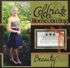 Celebrate Homecoming - Scrapbook.com