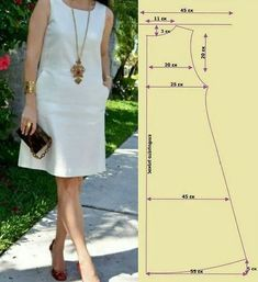 Dress Sewing Patterns, Sewing Patterns Free, Clothing Patterns, Pattern Drafting Tutorials, Pattern Dress, Fashion Sewing, Diy Fashion, Sewing Clothes, Diy Clothes