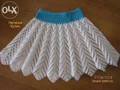 Znalezione obrazy dla zapytania вязание крючком юбки