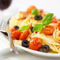 Pâtes aux tomates confites - Châtelaine