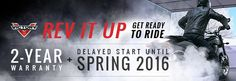Rev It Up Sales Event!   3.99% for 36 Months or 5.99% for 72 Months  Customer Cash up to $1,000  2-Year Warranty plus delayed start until Spring 2016!  #Motorcycles #Promotions #Sales #ForSale #StatenIsland #NYC