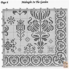 """""""Midnight in the Garden"""" Sampler • 7/7 - Bottom RHS Corner (page 6)"""