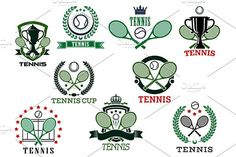 Tennis sports emblems and icons - Graphics - 1
