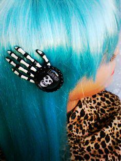 Misfits Hair Clip Misfits Skeleton Hand Clip by AbbiesAnchor, $8.00