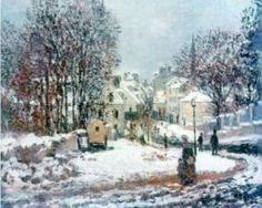 The Grand Street Entering to Argenteuil, Winter - Claude Monet