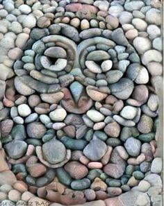 Stone art owl.