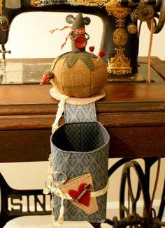 """Милые сердцу штучки: """"The Abbey Bag"""" или игольница с мешочком для обрезков"""