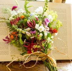 Natural funeral flowers