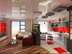 cocina integrada a la sala - Buscar con Google