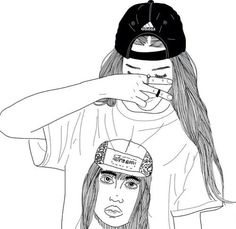 Картинка с тегом «girl, outline, and drawing»