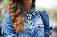GREEN CRYSTAL NECKLACE BY ZARA Must have!