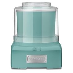 ice cream maker in turquoise. i need a new one...the canister on my old one cracked in the big move.