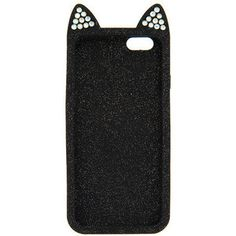 Katy Perry Kitty Purry Black Glitter 3D Quilted Silicone Cover for iPhone 6 and 6s