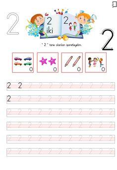 2 Rakamı Etkinlikleri Numbers Preschool, Preschool Math, Teaching Kindergarten, Number Tracing, Turkish Language, Finger Plays, Number Worksheets, Step Kids, Math For Kids
