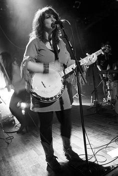 """Lisa Leblanc live @ Lion d'Or, 28/03/2012. Black and white film photography by François Carl Duguay. Order a 16"""" x 20"""" silverprint at www.laligneaharde.com """"$40"""""""