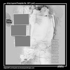 Artsy Layered Template No. 187  #art #digitalart #scrapbook #photography #inspireanna
