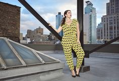 Crossover Printed Jumpsuit #PlusSizeFashion #FashionToFigure