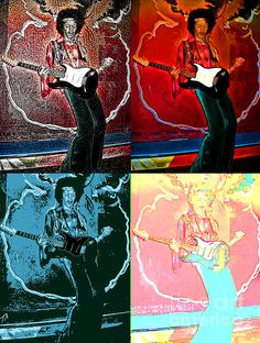 Jimmy Hendrix Pop Photograph  - Jimmy Hendrix Pop Fine Art Print