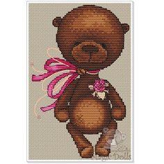 Easy Cross Stitch Patterns, Dmc Cross Stitch, Simple Cross Stitch, Cross Stitch Baby, Cross Stitching, Cross Stitch Embroidery, Baby Patterns, Doll Patterns, Stitches Wow
