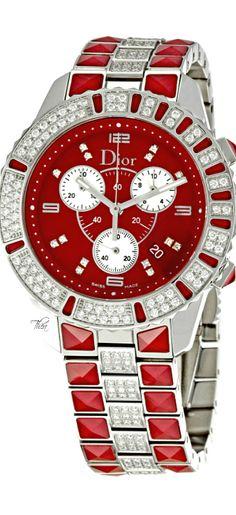 Christian Dior ● Christal Stainless-Steel Bracelet Watch ~ Tнεα