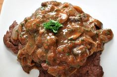 Slow Cooker Liver and Onions - Oh so Tender! www.GetCrocked.com